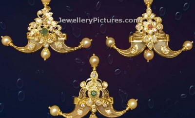 cz studded puligoru images in gold