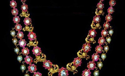 two step ruby necklace indian jewellery