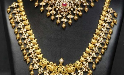 south indian wedding jewellery sets haram and necklace