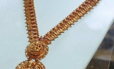 lakshmi devi traditional kasu mala designs