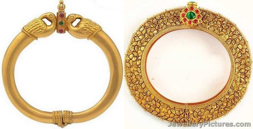 antique gold kadas