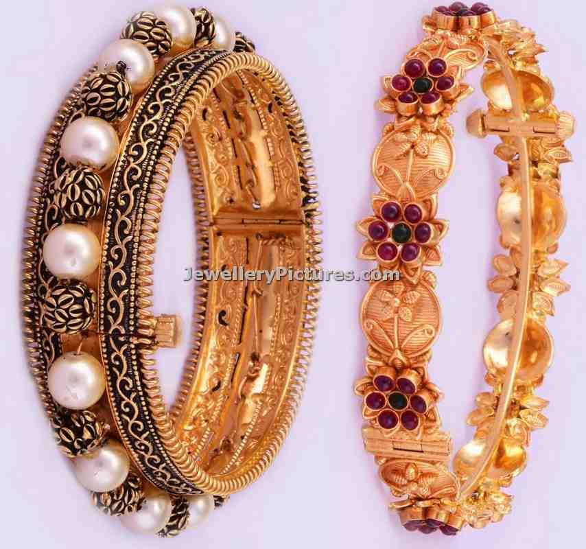 Gold Bangle Designs Bhima Jewellers Jewellery Designs