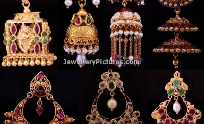 bhima jewellers earrings jhumka designs