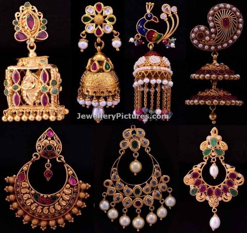 Bhima Jewellers Earrings Designs Jewellery Designs