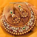 Bib Necklace Designs in Gold