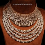 Diamond Necklaces Designs in Choker and Necklace Style