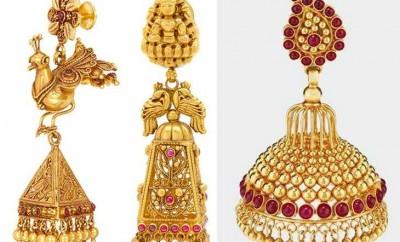 gold earring sbuttalu