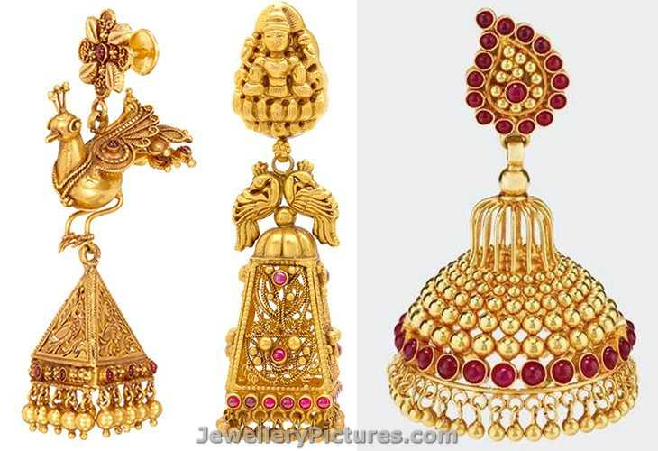 Gold Earrings Alu Designs By Joyalukkas