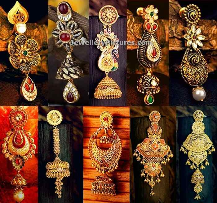 kalyan jewellers earring collections