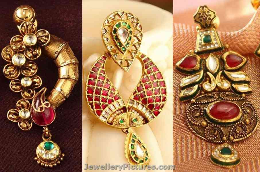 products kushal earrings earring antique s jewellery fashion