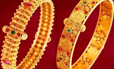 gold bangles kankanalu designs