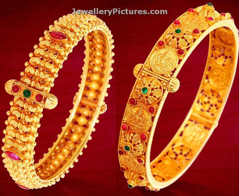 Gold Bangles Kankanalu in GRT Jewellers - Jewellery Designs
