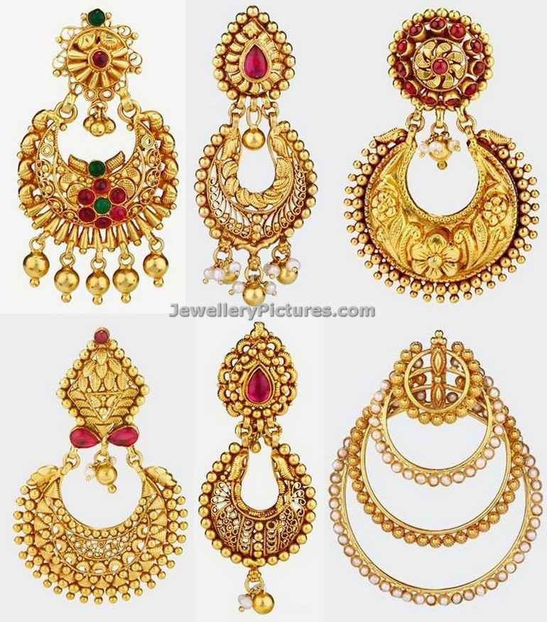 Chand Bali Earrings In Gold Jewellery Designs