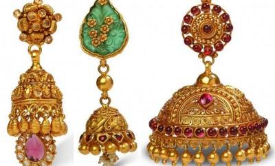 bhima jewellers jhumka designs latest models