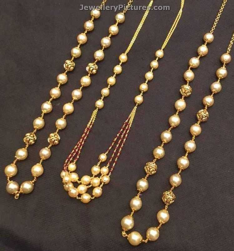 South Sea Pearls Chain Designs Latest Collection - Jewellery Designs