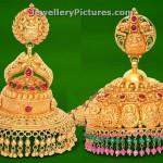 Gold Jhumka Designs in GRT