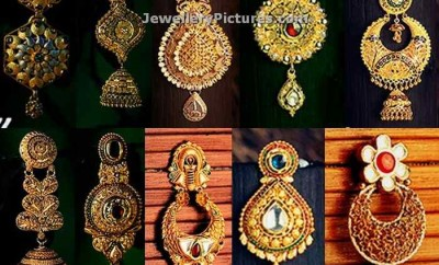 gold earrings from kalyan jewellers