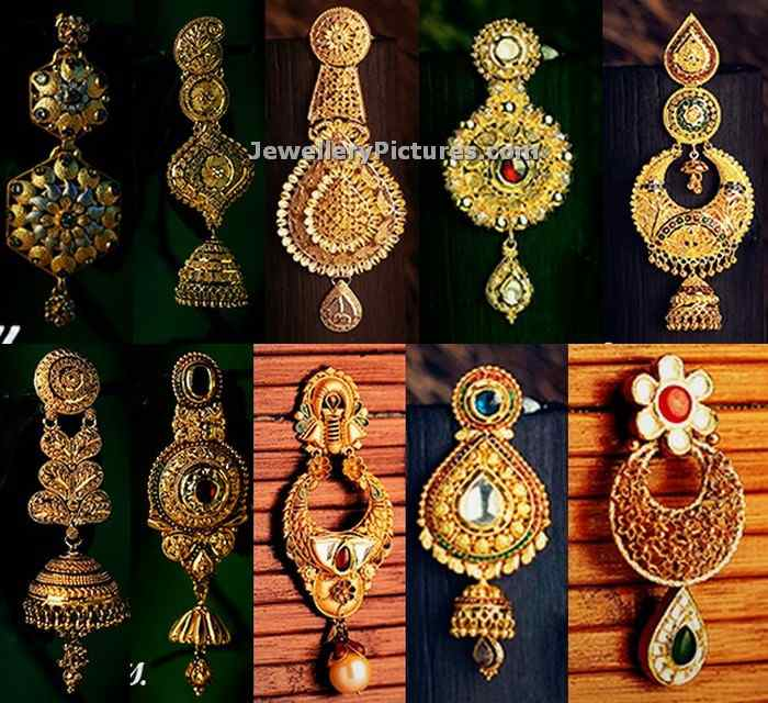 gold earrings from kalyan jewellers