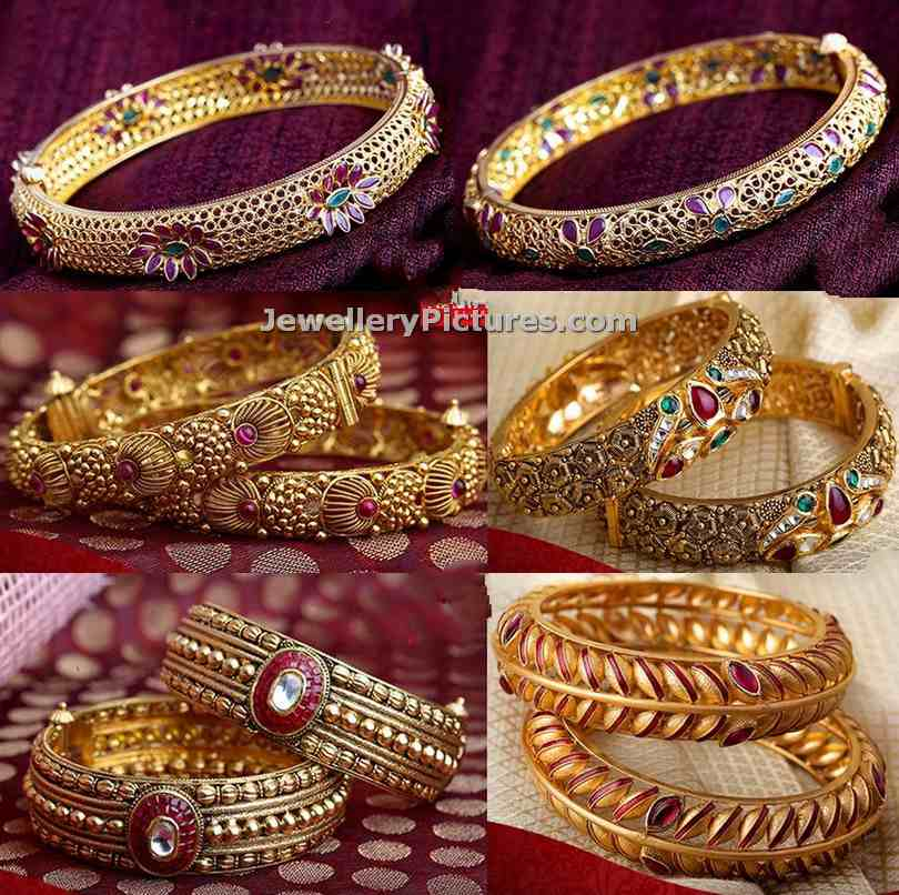 Gold Bangles Latest Indian Jewelry - Jewellery Designs