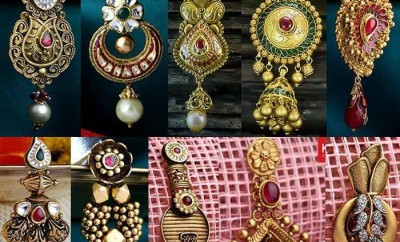 kalyan jewellers earrings designs in gold