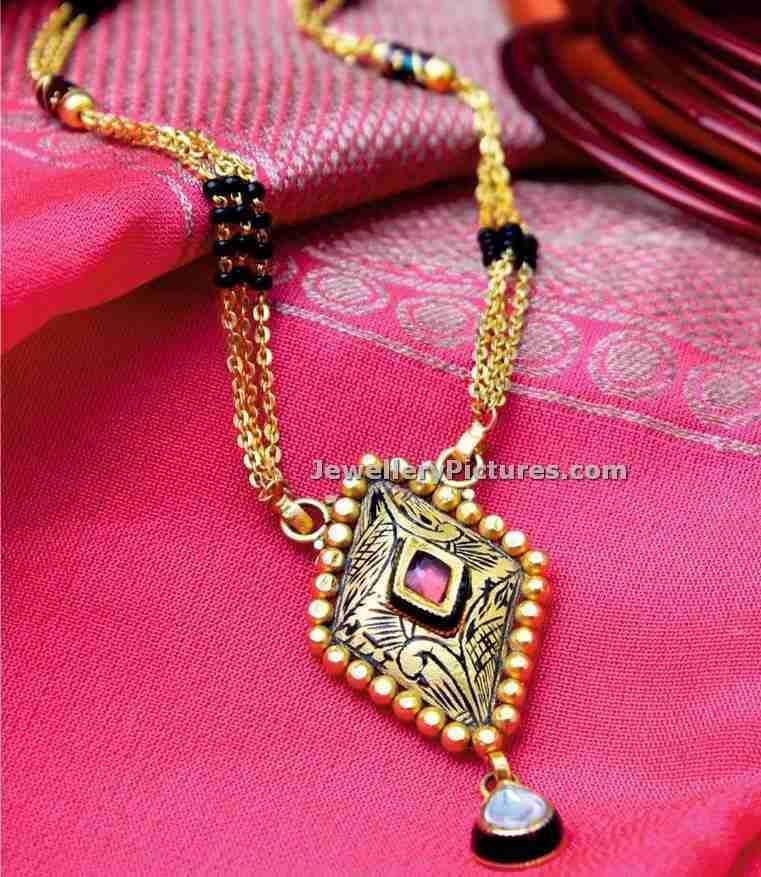 manubhai jewellers nallapusalu chain latest designs