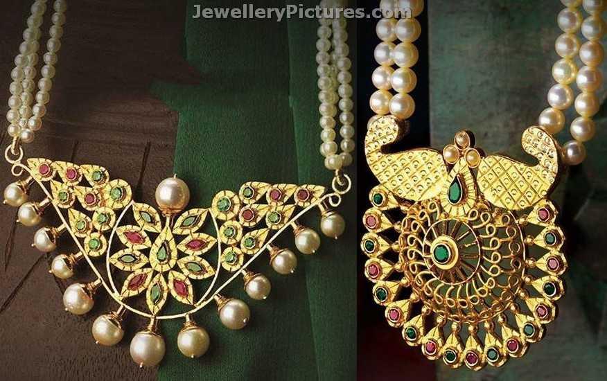 Antique Pendants Latest Indian Jewelry - Jewellery Designs  Davanam