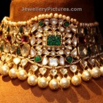 Polki Choker with pearls and Emeralds