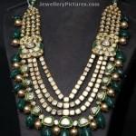 Polki Emeralds Long Necklace