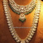 Polki Haram Designs with Matching Necklace