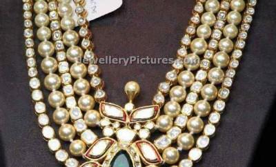 diamond polki sets with pearls