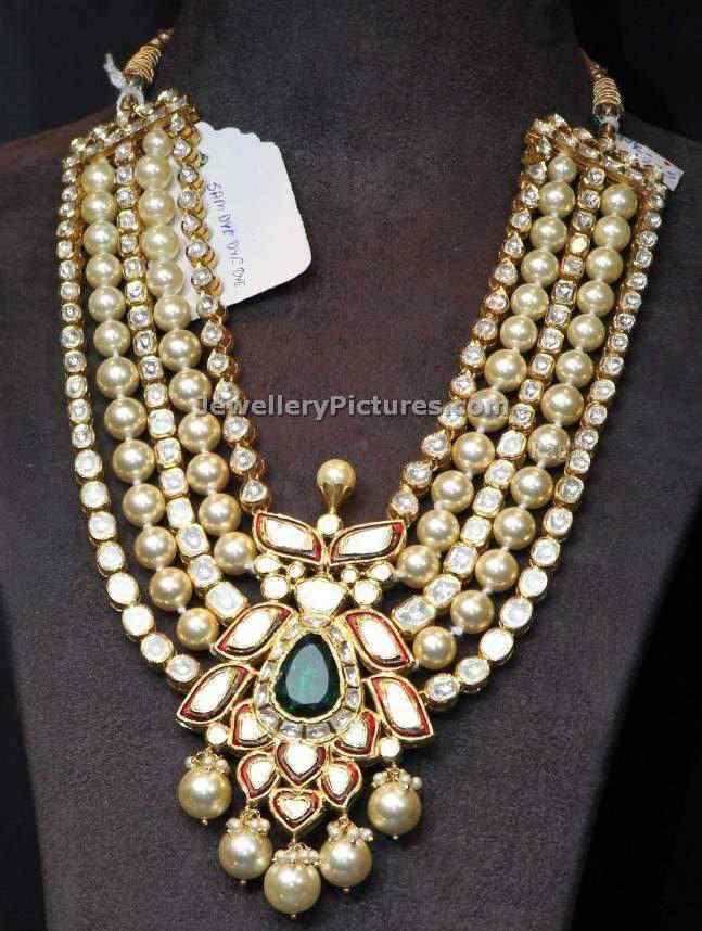 Uncut Diamond Long Chain Latest Indian Jewelry Jewellery