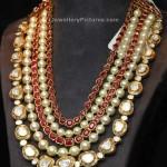 Polki Pearl Jewellery by Tibarumal Jewels