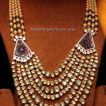 Rani Haar Designs with Polki and Pearls
