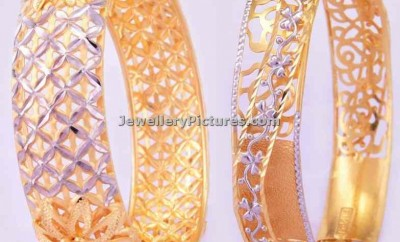 fancy gold bangles by bhima