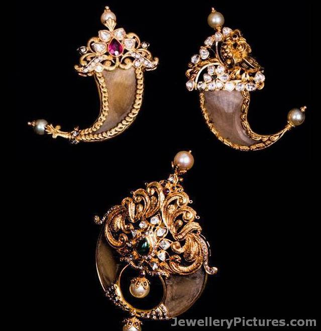 Tiger Nail Pendants Latest Indian Jewelry Jewellery Designs