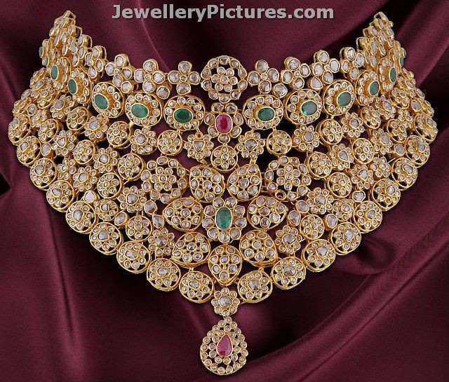 uncut diamond necklace sets designs choker