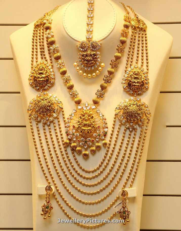 Gundla Mala Latest Designs with Weight - Jewellery Designs