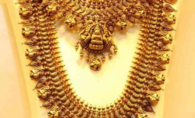 temple collection jewellery joyalukkas lakshmi necklace and long chain