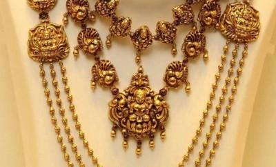 lakshmi devi temple jewellery designs in joyalukkas