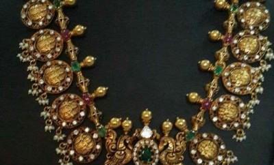 gold kasu mala necklace