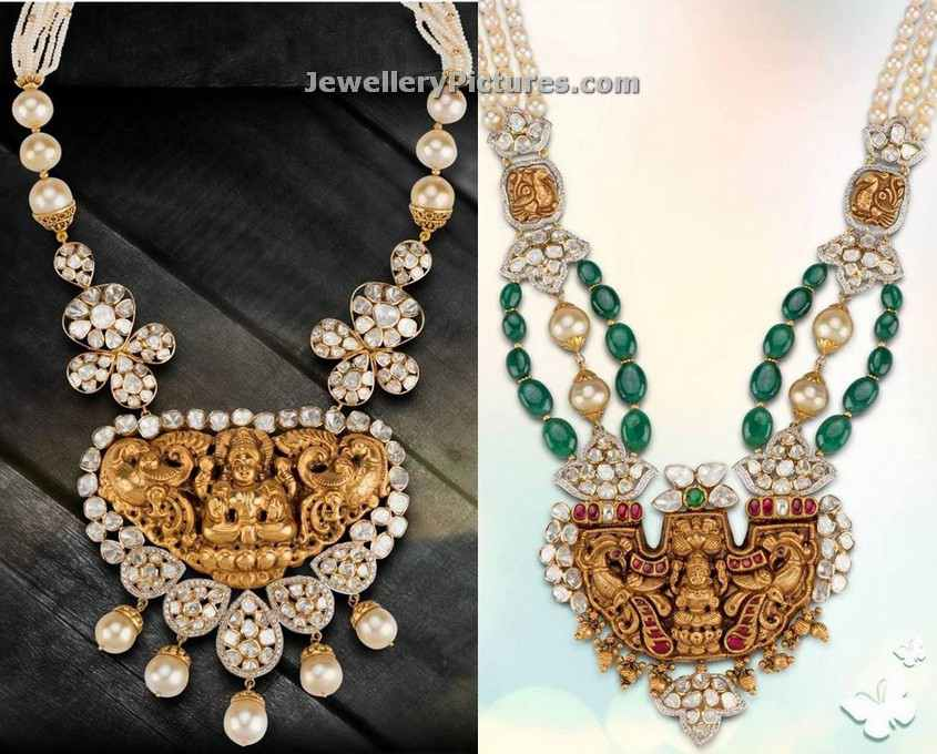 Temple jewellery latest indian jewelry jewellery designs temple pendant gold designs with diamonds and pearls aloadofball Choice Image
