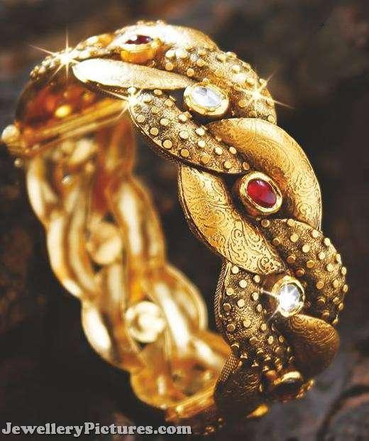 antique gold kada