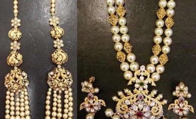 pearl sets designs in gold latest necklaces