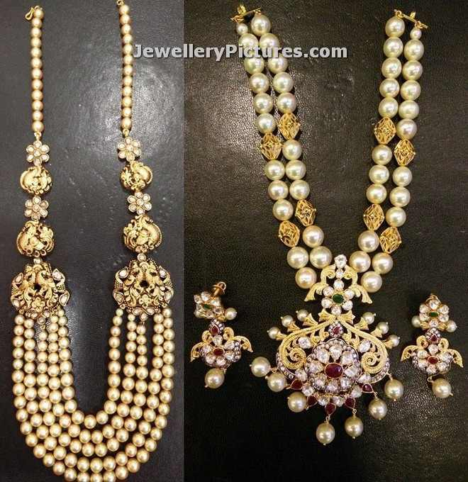 Pearl Necklace Latest Indian Jewelry Jewellery Designs