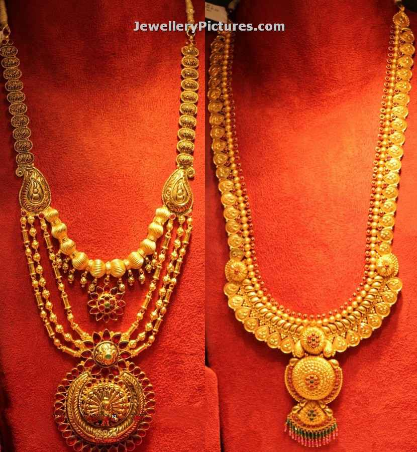 Gold Long Chain Latest Indian Jewelry Jewellery Designs
