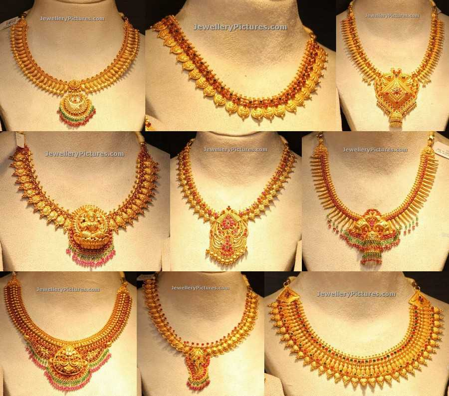 Indian Gold Jewellery Necklace Designs With Price: Gold Necklace Latest Indian Jewelry