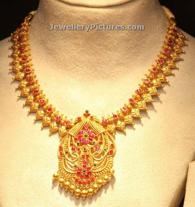 9 simple gold necklace designs jewellery designs
