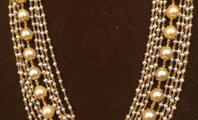 indian pearl necklace designs in layer design