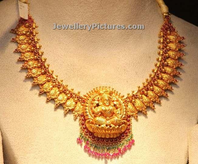 lakshmi devi gold necklace