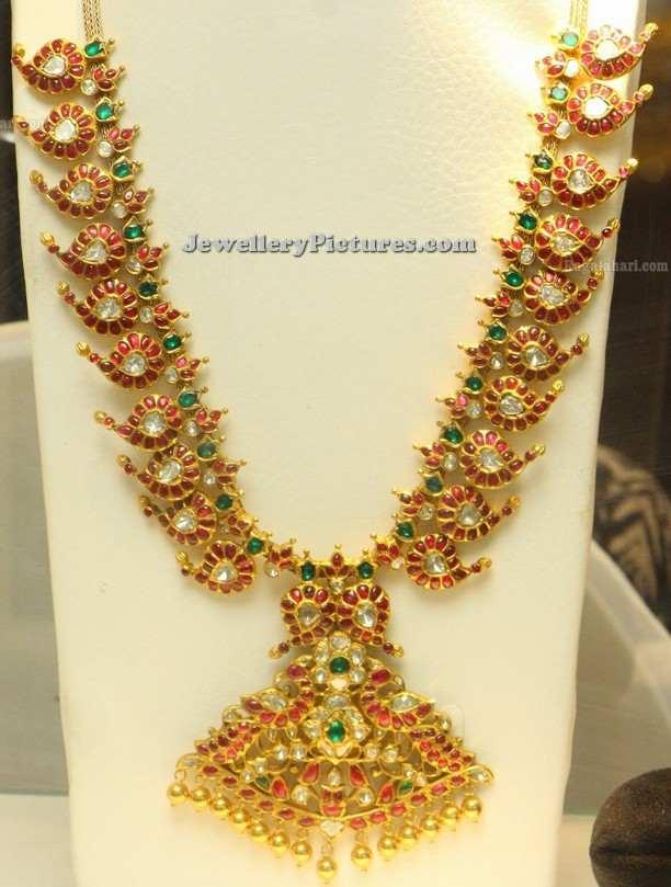 rubies mango mala antique jewellery